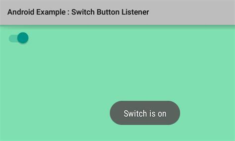 How to add listener for Switch button in Android