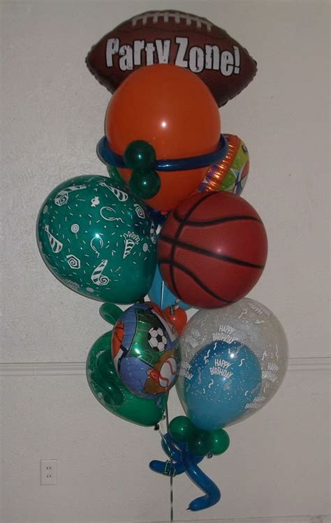 Let's take it to the Party Zone small balloon bouquet