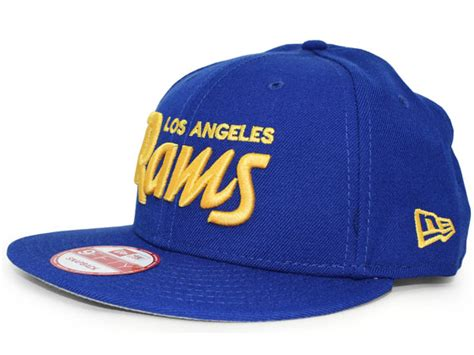 NEW ERA LOS ANGELES RAMS 【TEAM-SCRIPT SNAPBACK/RYL BLUE-GOLD】 ニューエラ